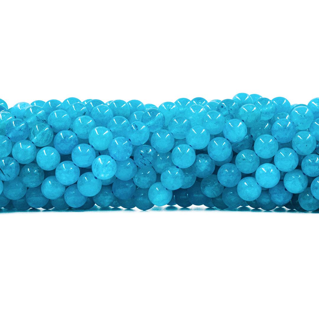 Jade Blue Sky Fio com Esferas de 8mm - F586  - ArtStones