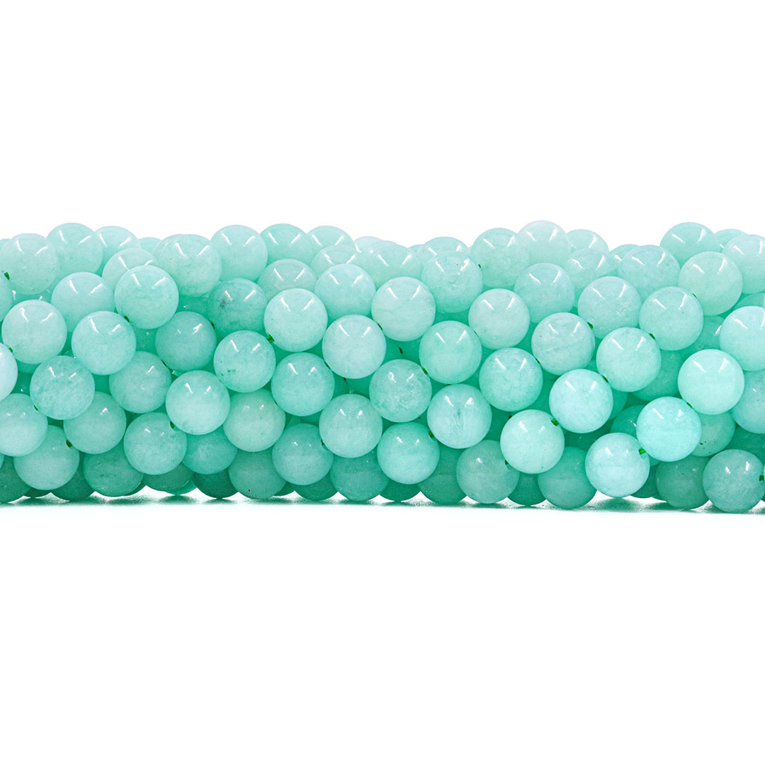 Jade Verde Ocean Fio com Esferas de 8mm - F587  - ArtStones