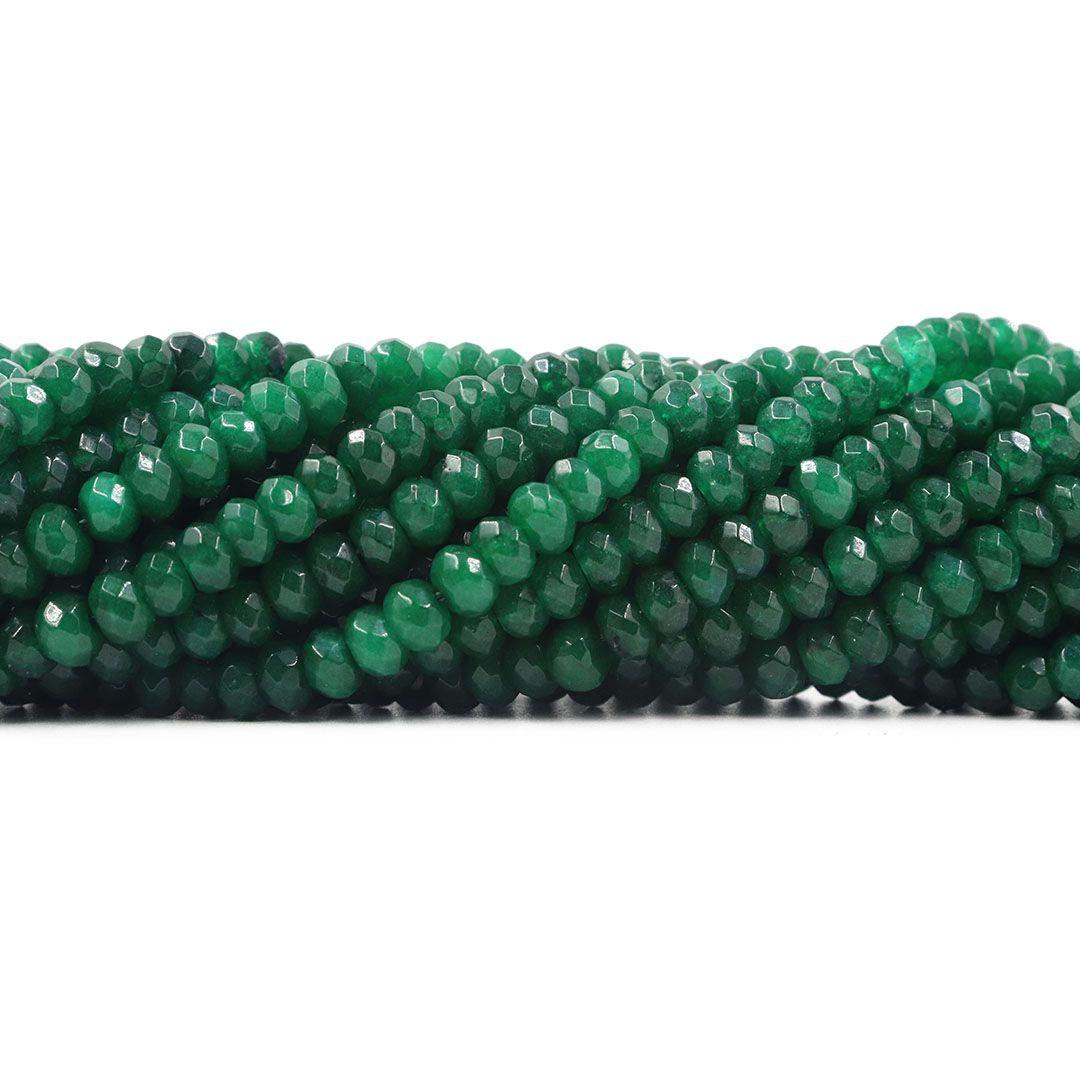 Jade Esmeralda Formato Briolet Facetado de 6mm - F580  - ArtStones