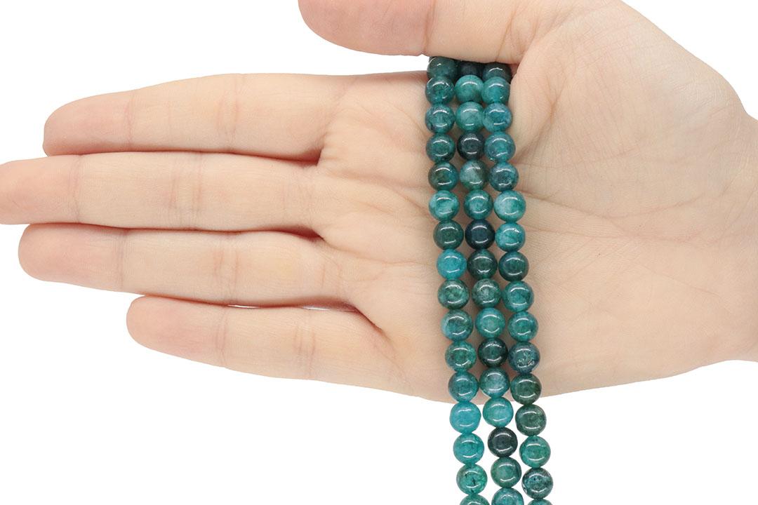 Jade Apatita Fio com Esferas de 6mm - F305  - ArtStones