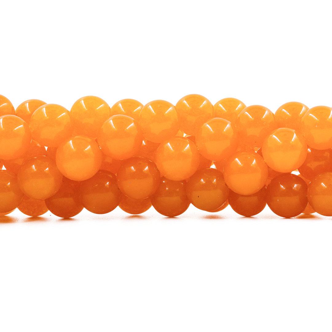 Jade Mostarda Escuro Fio com Esferas de 16mm - F816  - ArtStones