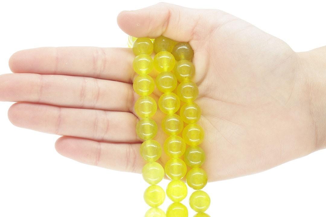 Jade Peridoto Fio com Esferas de 12mm - F400  - ArtStones