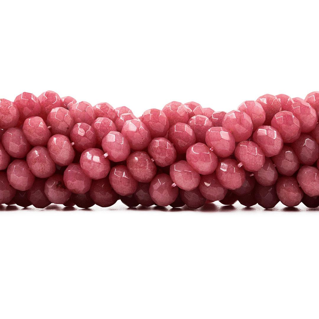 Jade Rodocrosita Formato Briolet de 10mm Facetado - F764  - ArtStones