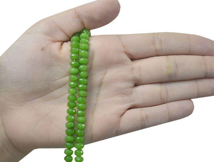 Jade Verde Briolet de 6x4mm Facetado - F318  - ArtStones