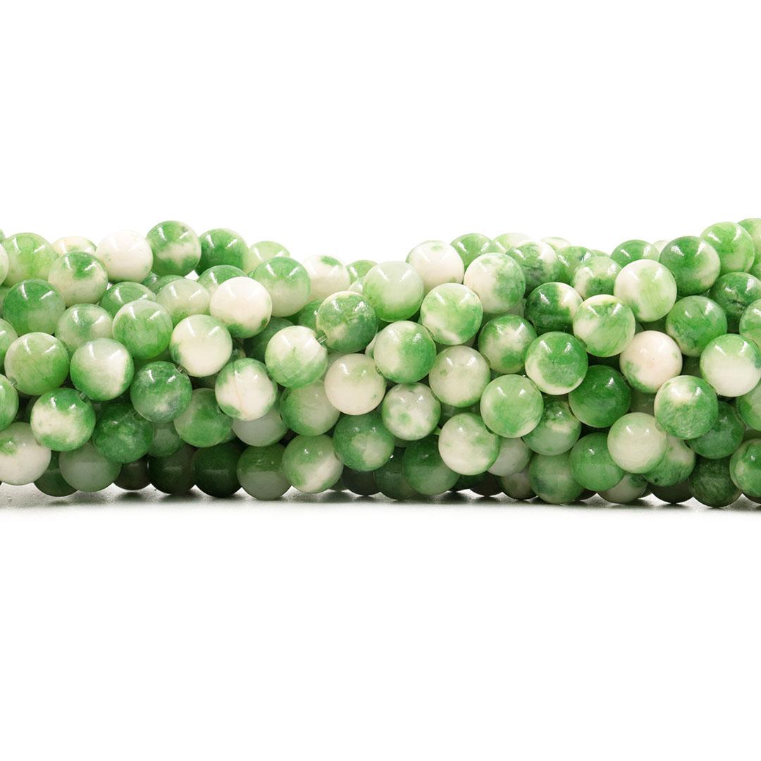 Jade Verde Mesclado Fio com Esferas de 8mm - F219  - ArtStones