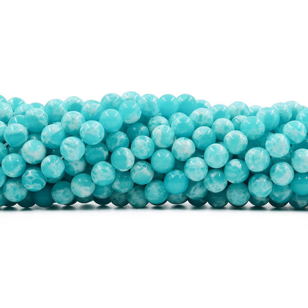 Jade Verde Mesclado Fio com Esferas de 8mm - F610  - ArtStones