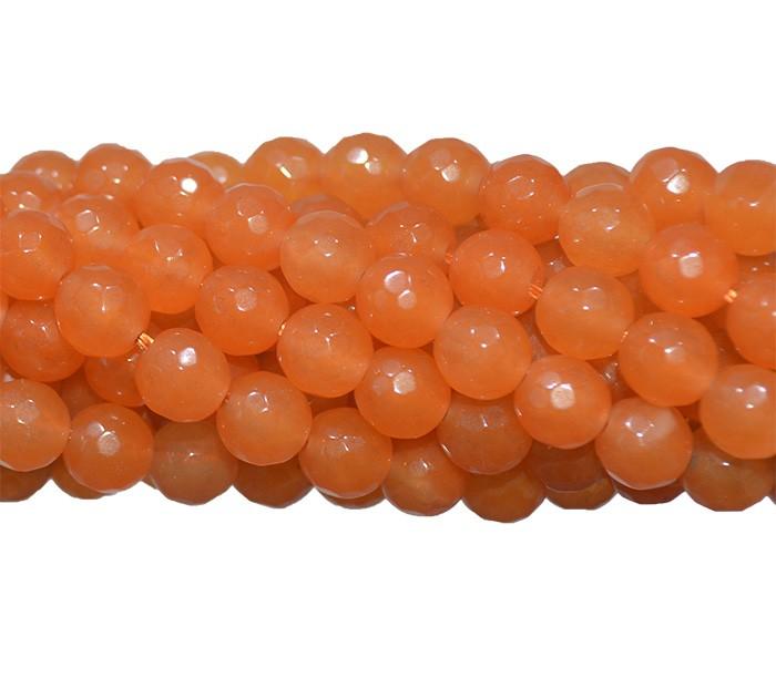 Jade Laranja Fio com Esferas Facetadas de 6mm - F353  - ArtStones