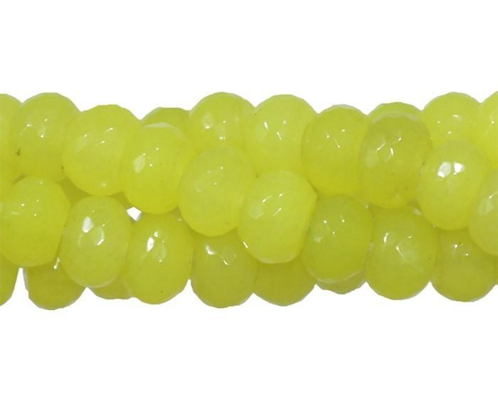 Jade Limão Formato Briolet de 8mm Facetado - F317  - ArtStones