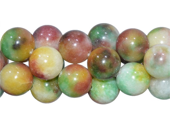 Jade Multicolor Verde e Amarelo Esferas de 12mm - F548  - ArtStones