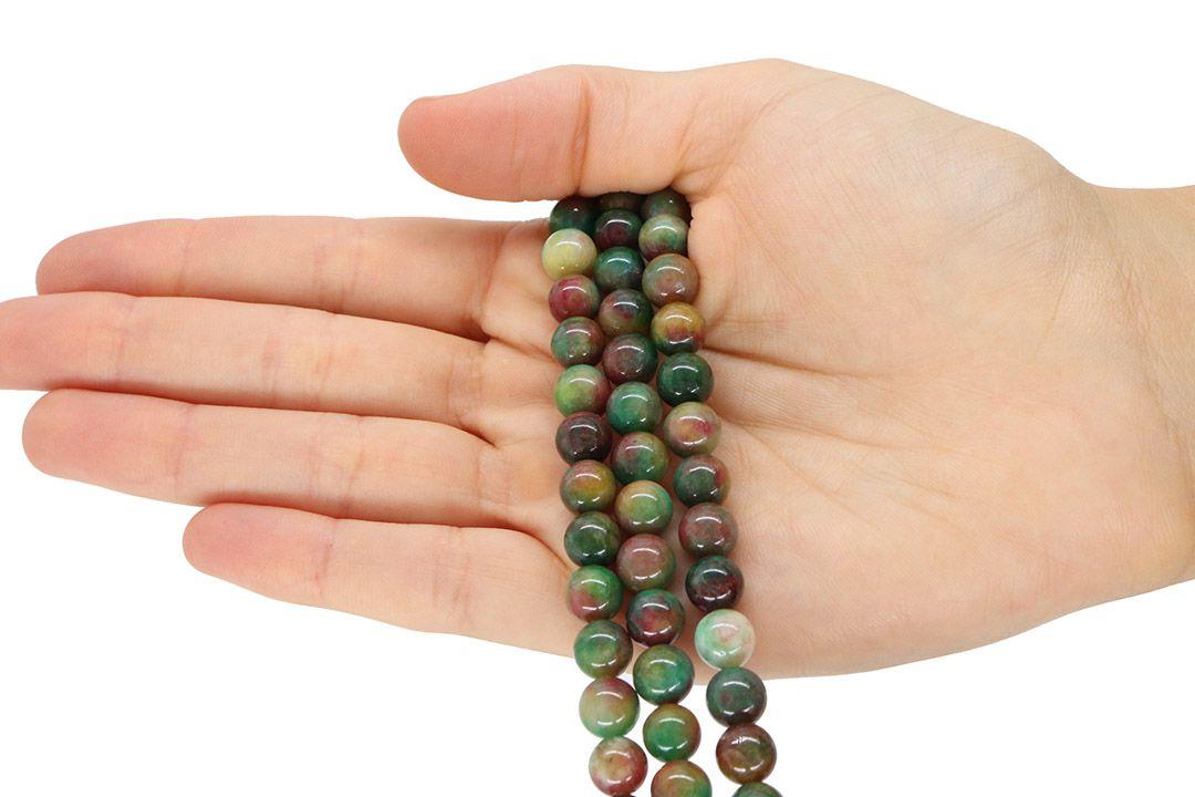 Jade Multicolor Fio com Esferas de 10mm - F359  - ArtStones