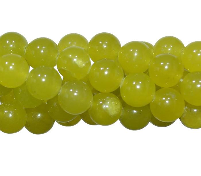 Jade Peridoto Fio com Esferas de 6mm - F388  - ArtStones