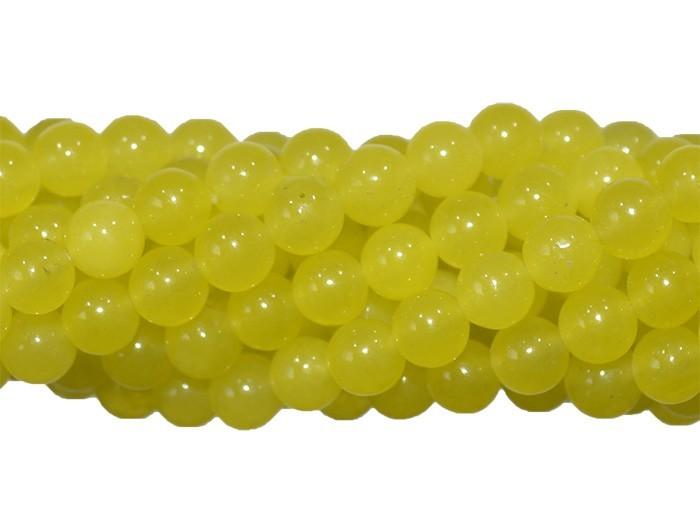 Jade Lima Fio com Esferas de 4mm - F385  - ArtStones