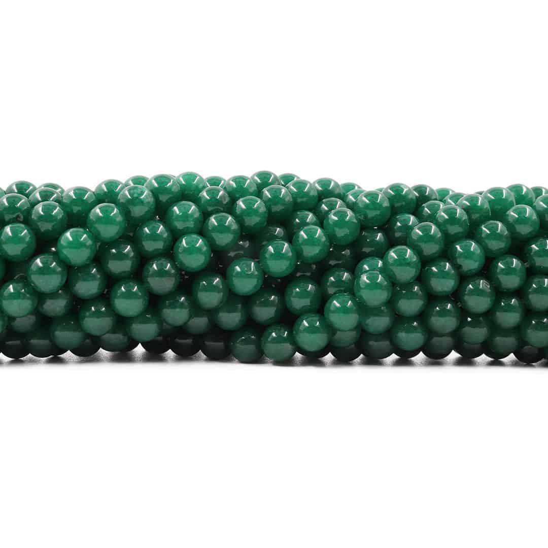 Jade Esmeralda Leitoso Fio com Esferas de 6mm - F556  - ArtStones