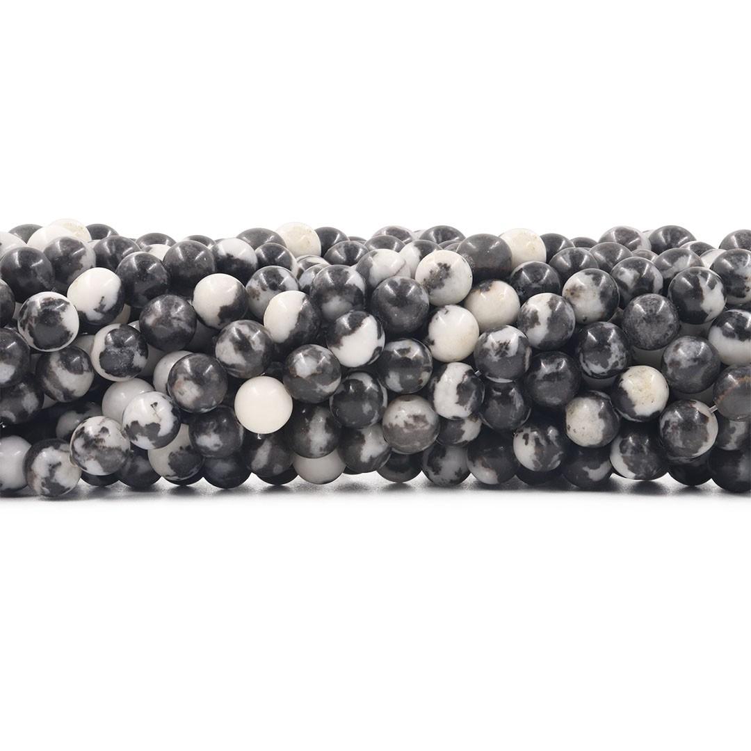Jaspe Zebrada Mesclada Fio com Esferas de 8mm - F448  - ArtStones