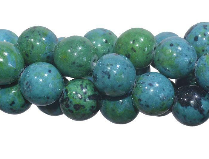 Jaspe Crisocola Natural Fio com Esferas de 8mm - FESF_171/8  - ArtStones