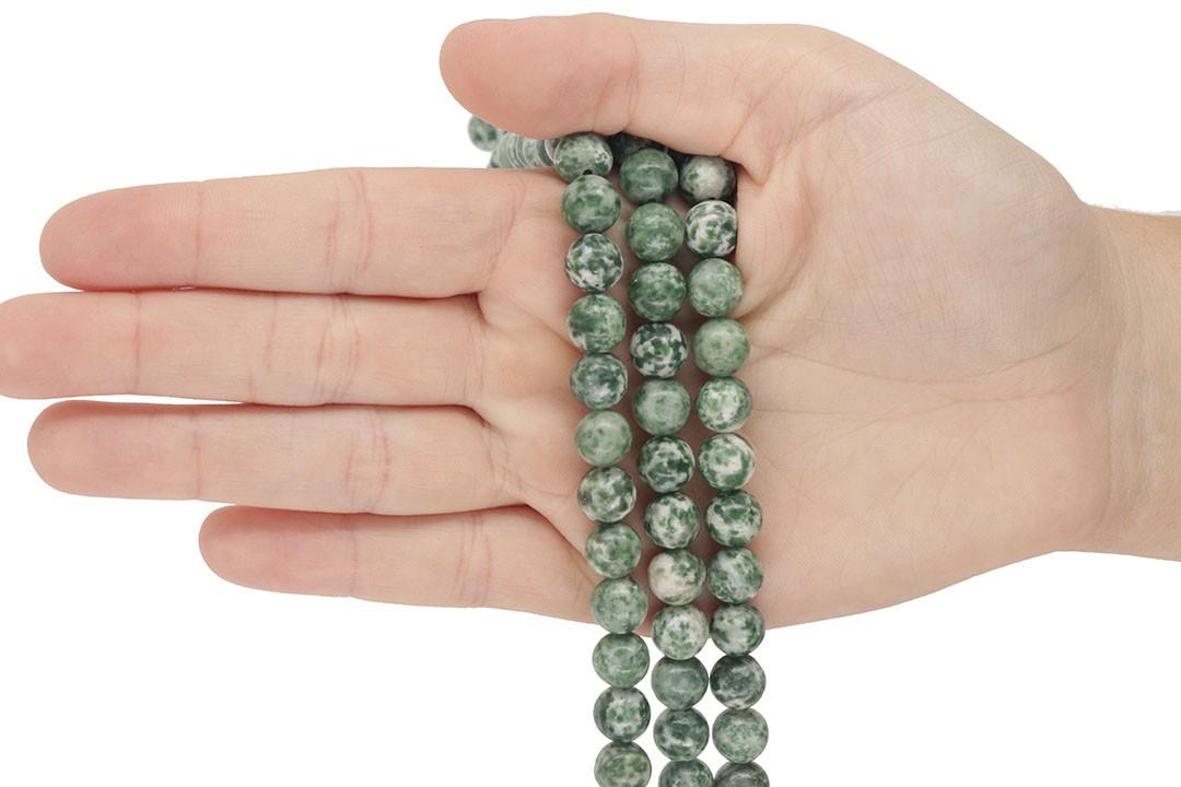 Jaspe Verde Mesclado Fio com Esferas de 8mm - F177  - ArtStones