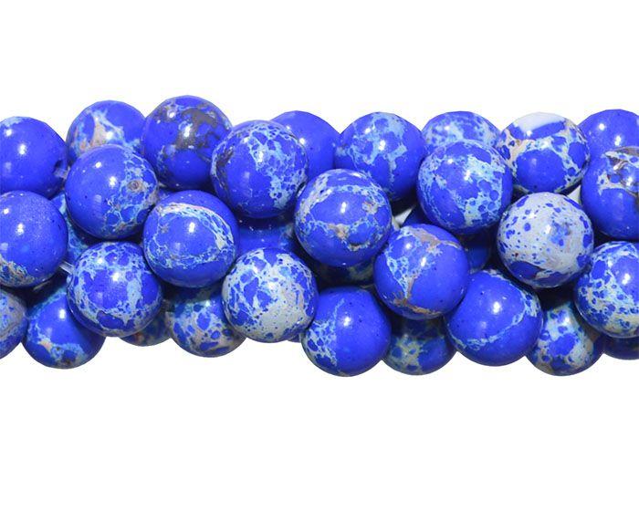 Jaspe Imperador Azul Intenso 6mm Refeito - F469  - ArtStones
