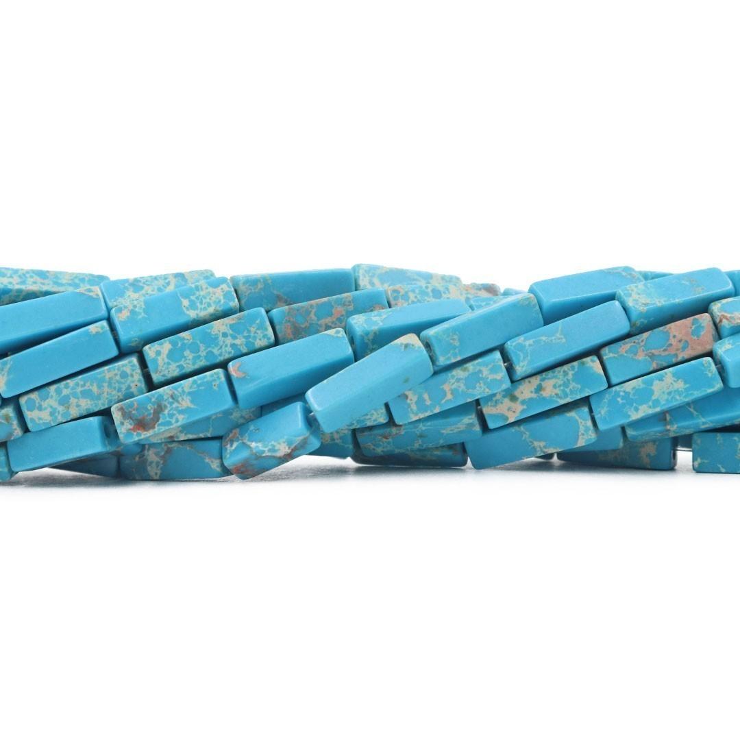Jaspe Imperador Azul Turquesa Formato Filete 13x4mm - F355  - ArtStones