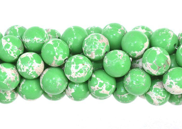 Jaspe Imperador Verde 6mm Refeito - F475  - ArtStones