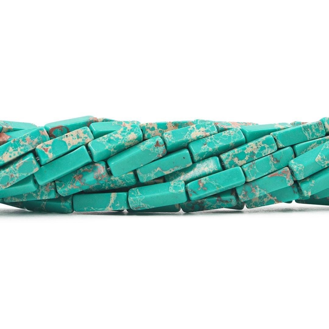 Jaspe Imperador Verde Ocian Formato Filete 13x4mm - F368  - ArtStones