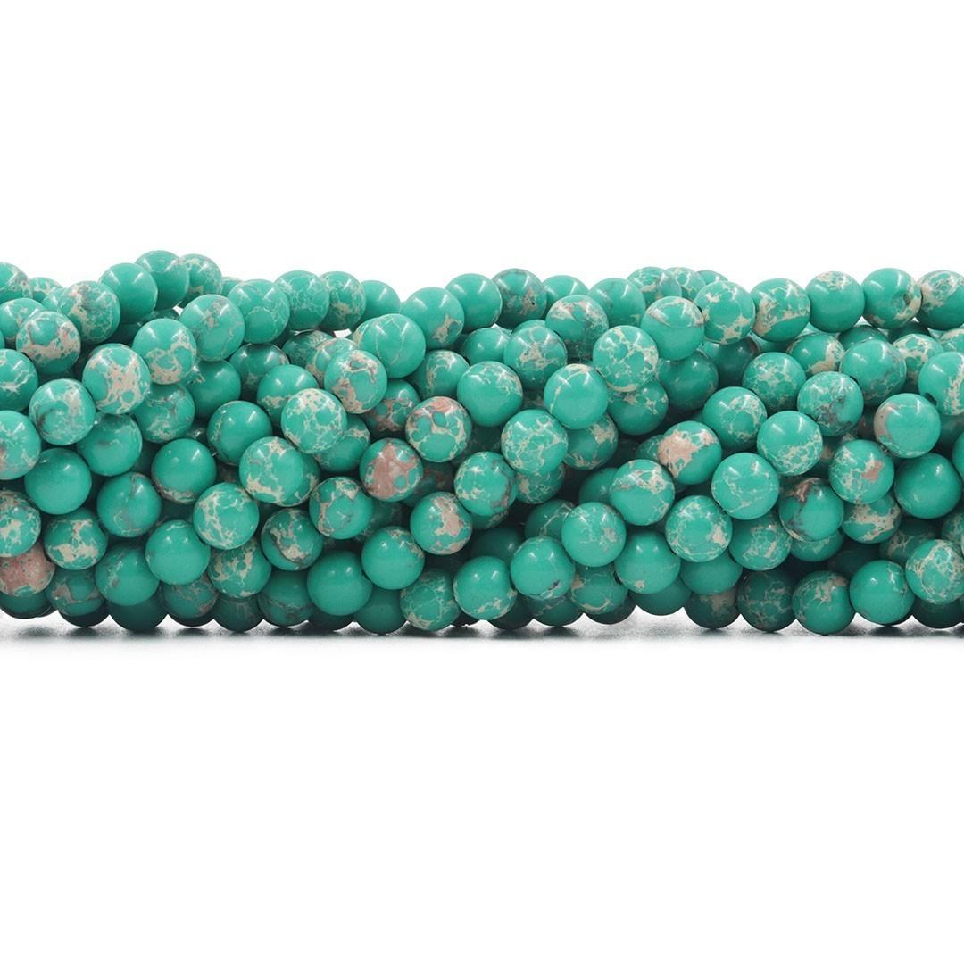 Jaspe Imperador Verde Ocian 6mm - F603  - ArtStones