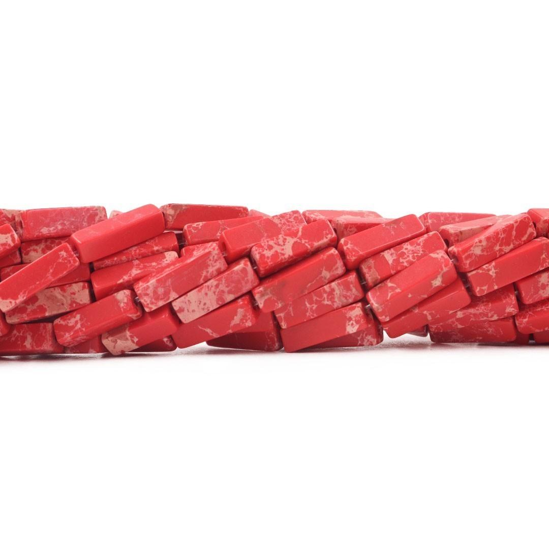 Jaspe Imperador Vermelho Formato Filete 13x4mm - F286  - ArtStones