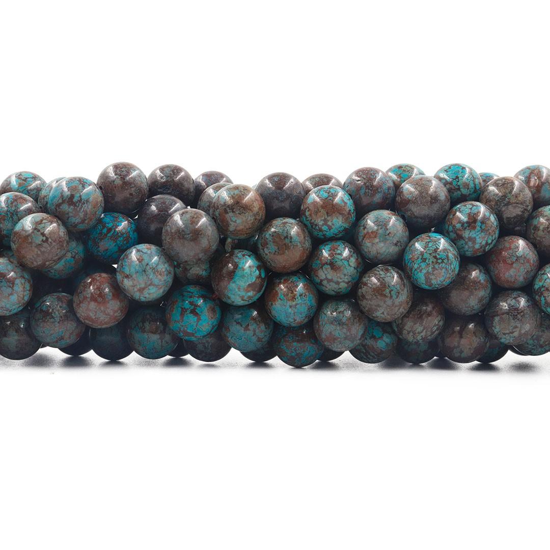Jaspe Lago Azul fio com esferas de 10mm - F403  - ArtStones