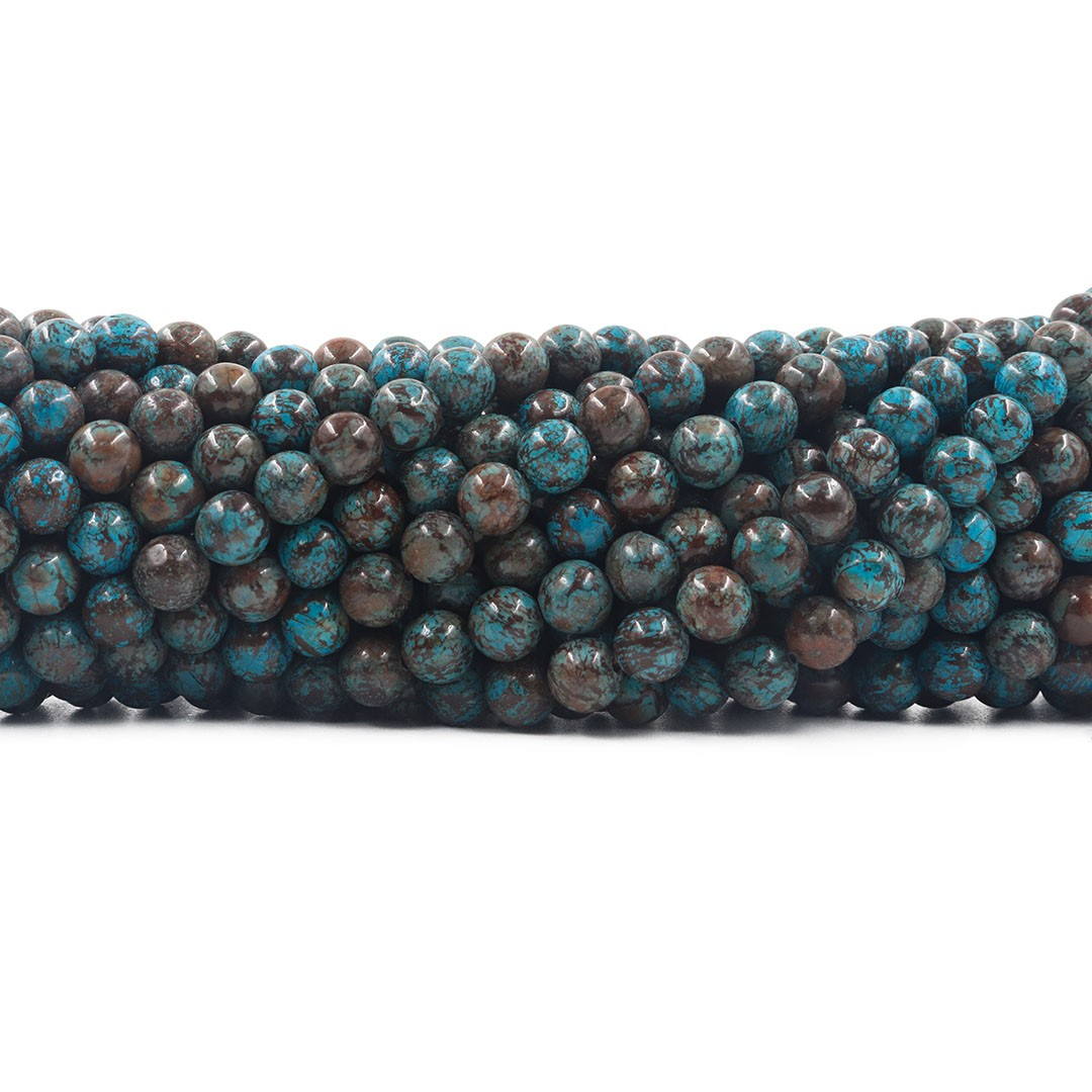 Jaspe Lago Azul Fio com Esferas de 6mm - F348  - ArtStones