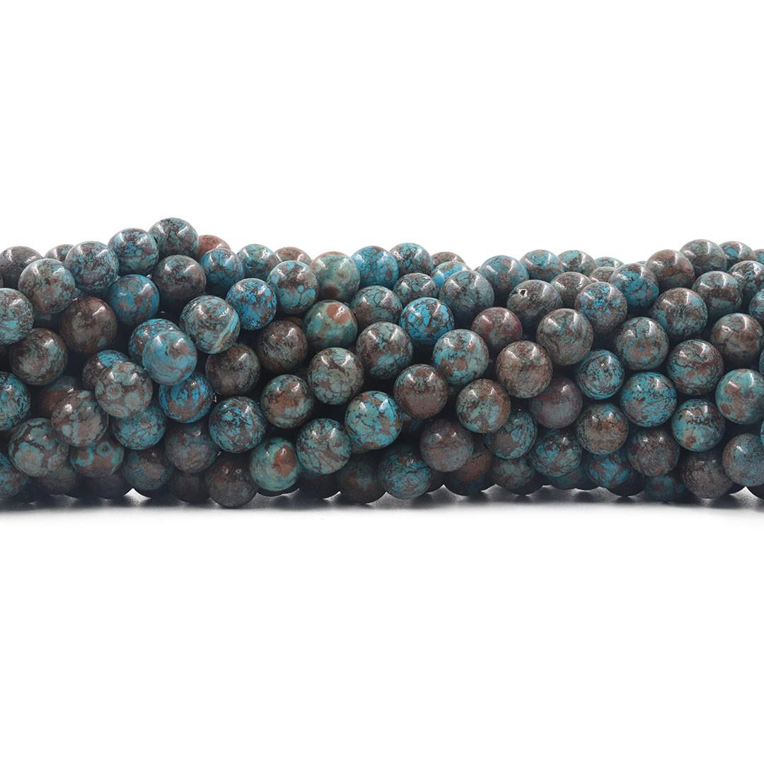 Jaspe Lago Azul fio com esferas de 8mm - F221  - ArtStones