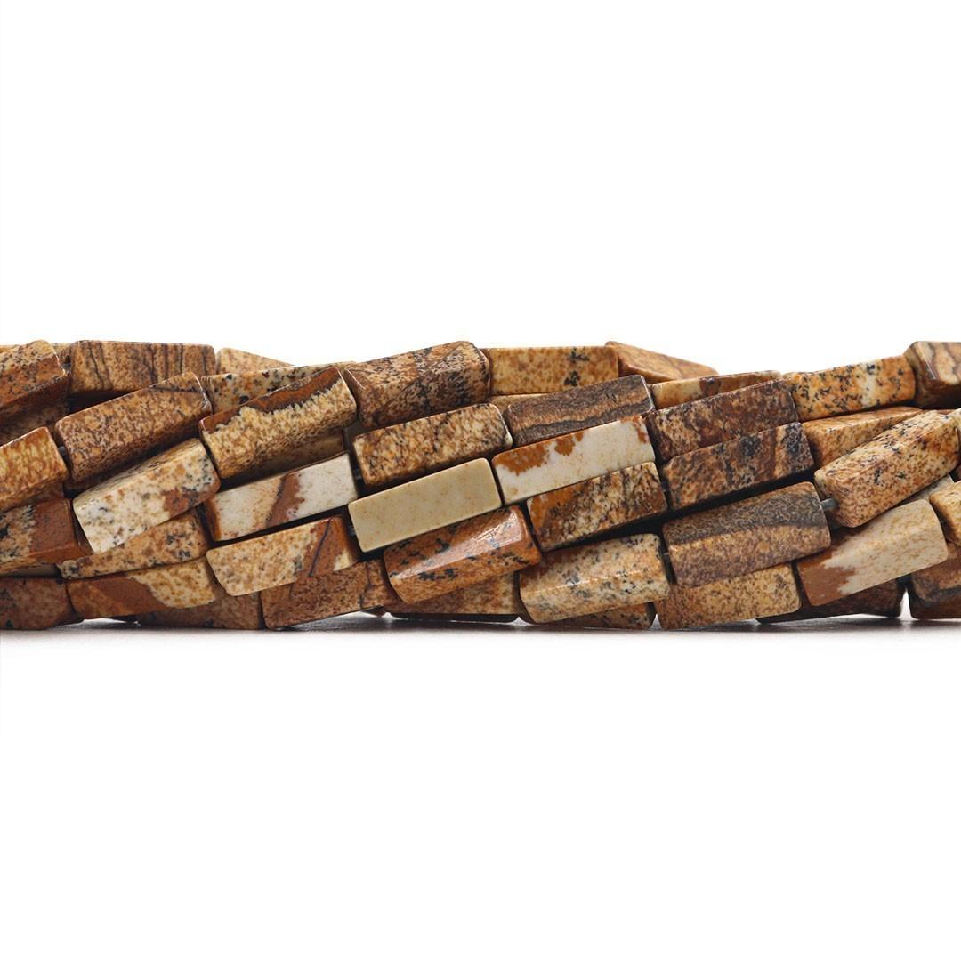 Jaspe Madeira  Formato Filete 14x5mm - F639  - ArtStones
