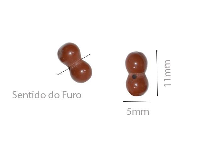 Jaspe Marrom Ossinho 11x5mm - 10 Peças - PA026  - ArtStones