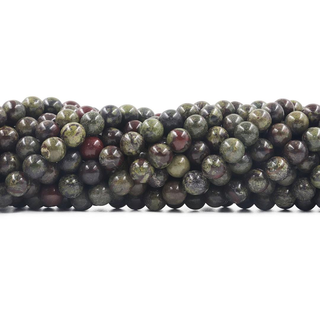 Jaspe Sangue de Dragão Fio com Esferas de 8mm - F492  - ArtStones