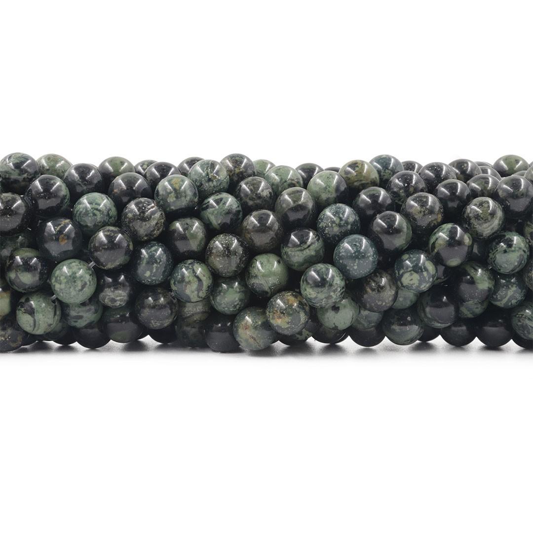 Jaspe Verde Floresta Fio com Esferas de 8mm - F198  - ArtStones