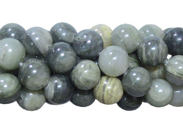 Jaspe Verde Mesclado Fio com Esferas de 10mm - F443  - ArtStones