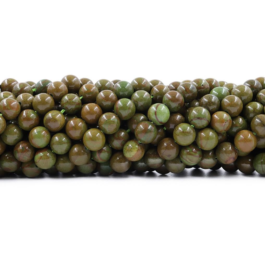 Jaspe Verde Mesclado Fio com Esferas de 8mm - F670  - ArtStones