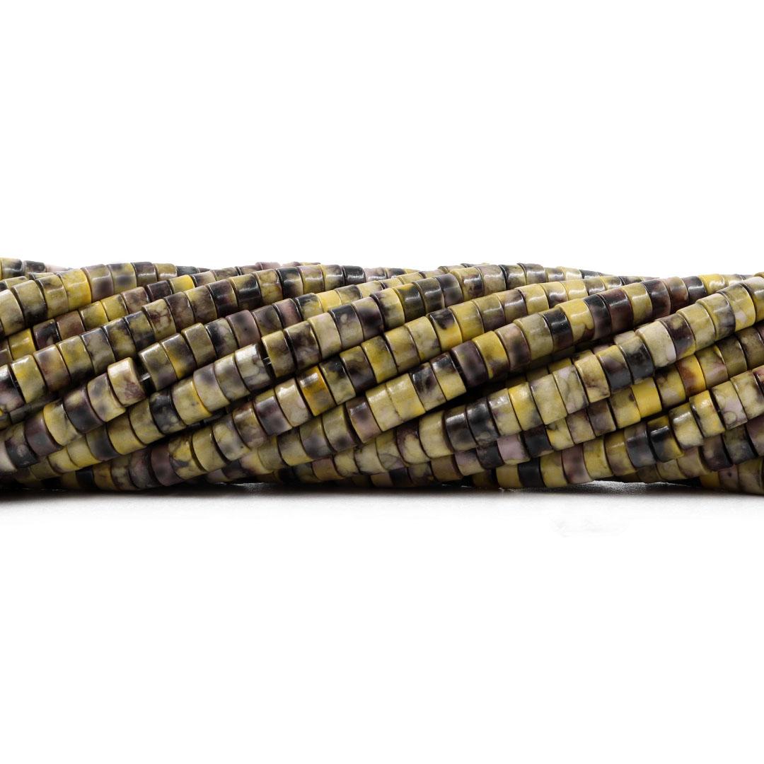 Jaspe Verde Mesclado Formato Disco 4.5x2mm - F731  - ArtStones