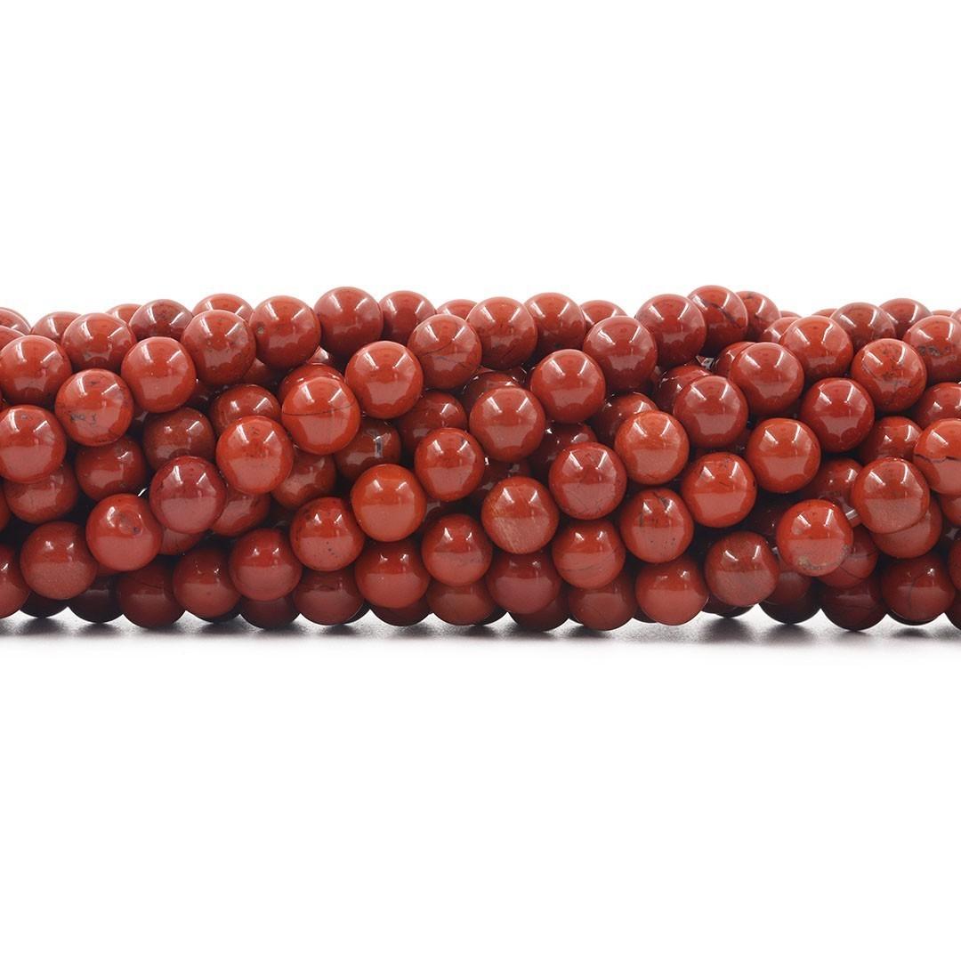Jaspe Vermelho Fio com Esferas de 8mm - F618  - ArtStones
