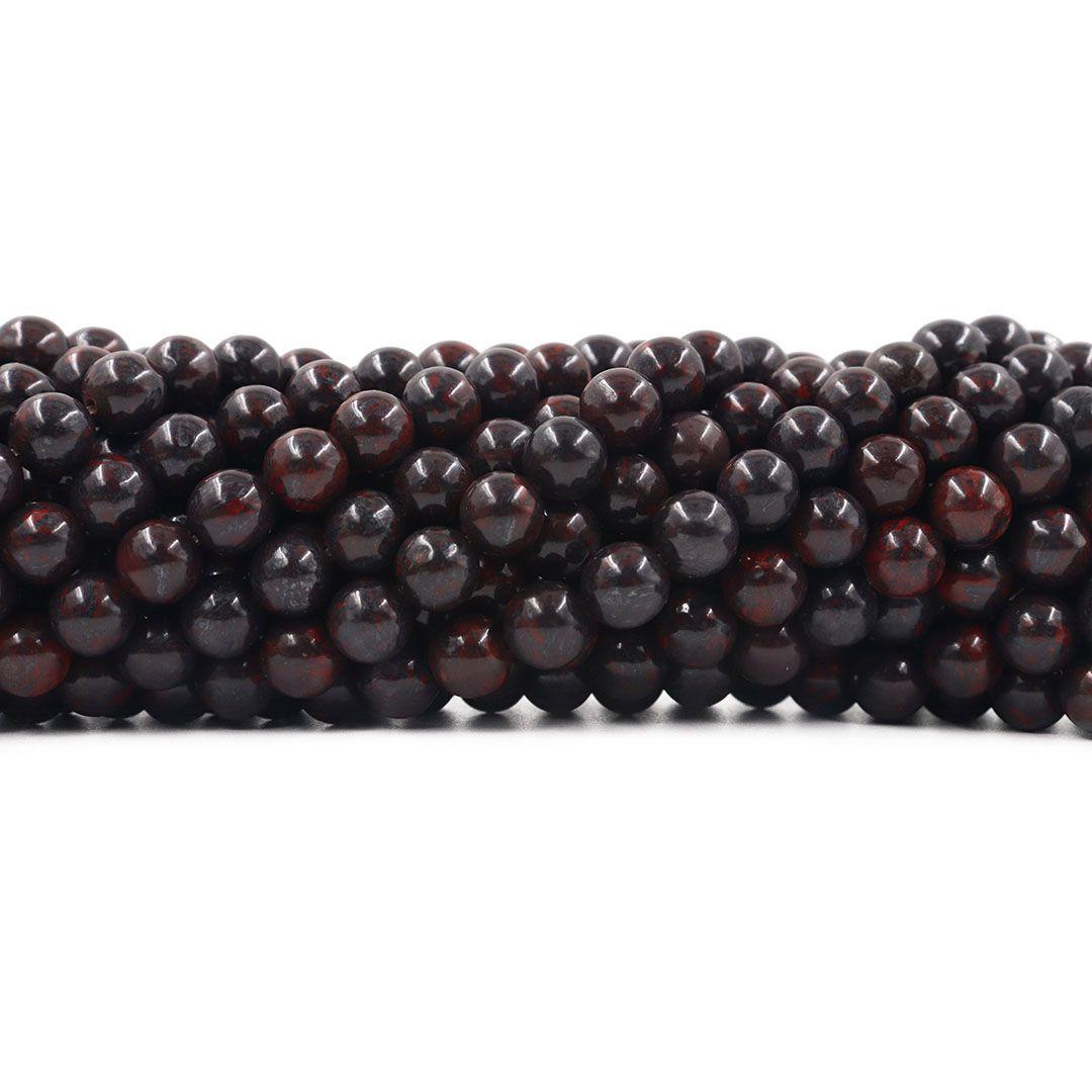 Jaspe Sangue de Serpente Fio com Esferas de 8mm - F588  - ArtStones