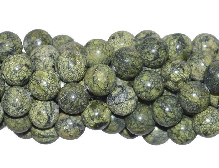 Jaspe Serpentina Fio com Esferas de 10mm - F417  - ArtStones