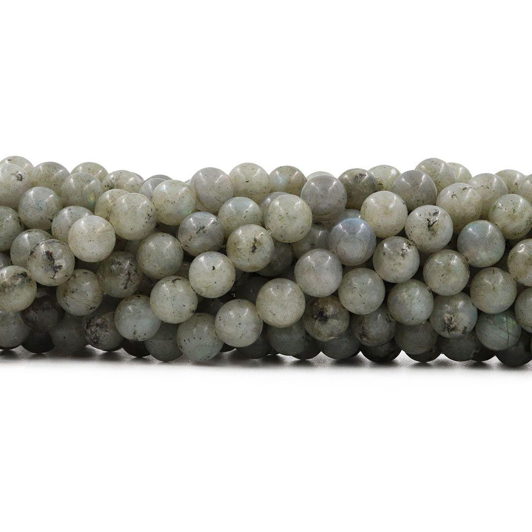 Labradorita Natural Arco Íris Fio com Esferas de 10mm - F482  - ArtStones