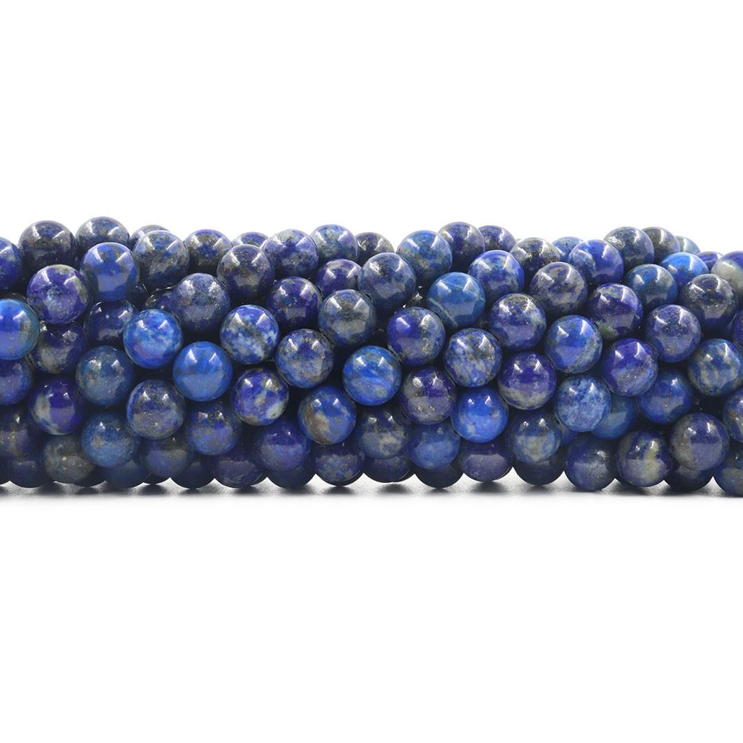 Lápis Lazúli Natural sem tinta Fio com Esferas de 8mm - F644  - ArtStones
