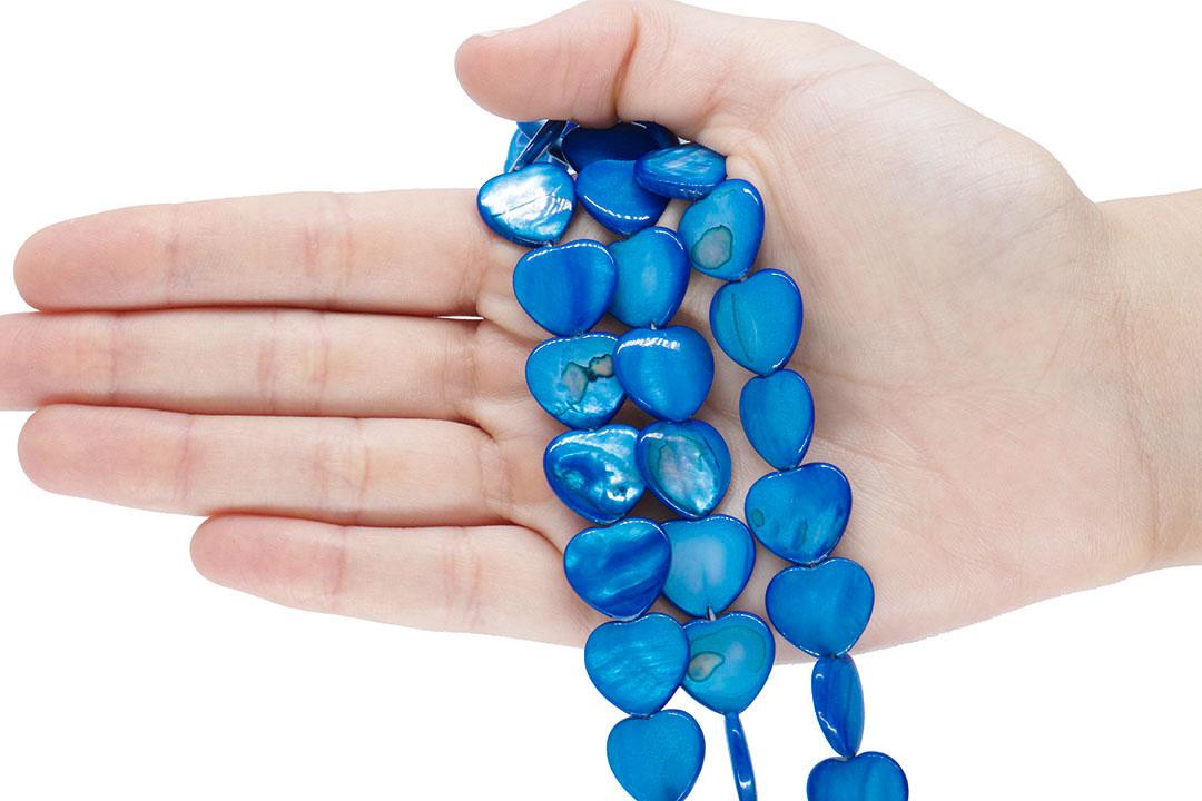 Madrepérola Coração Azul 15mm - PM000  - ArtStones