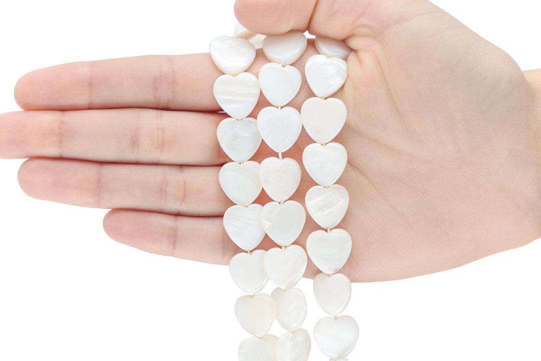 Madrepérola Coração Natural 14mm - PM247  - ArtStones