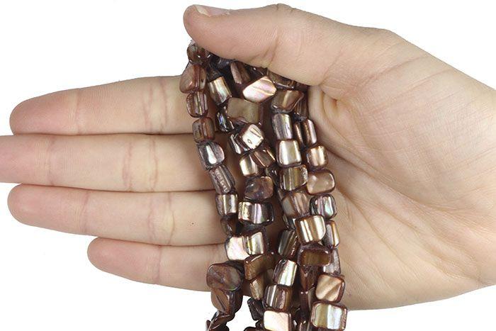 Madrepérola Lasca Triangular cor Cobre - FMP_178  - ArtStones