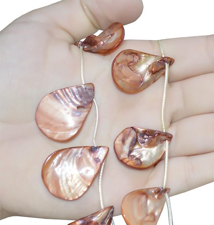 Madrepérola Gota cor Bronze - FMP_136  - ArtStones