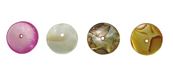 Madrepérola Moeda 14mm em Cores Variadas - 10 Peças - PA021  - ArtStones