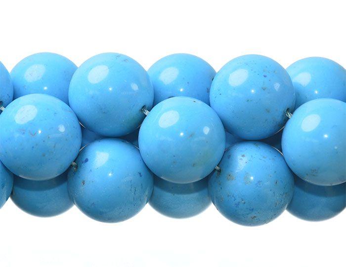 Magnesita Azul Fio com Esferas de 16mm - HO035  - ArtStones