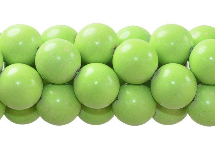 Magnesita Verde Fio com Esferas de 16mm - HO039  - ArtStones