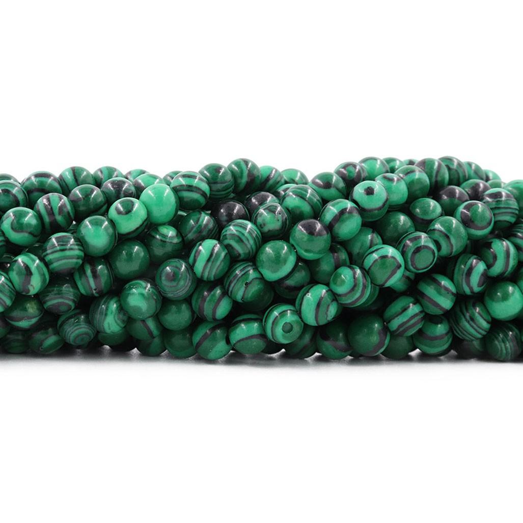 Malaquita Fio com Esferas de 10mm - F180  - ArtStones