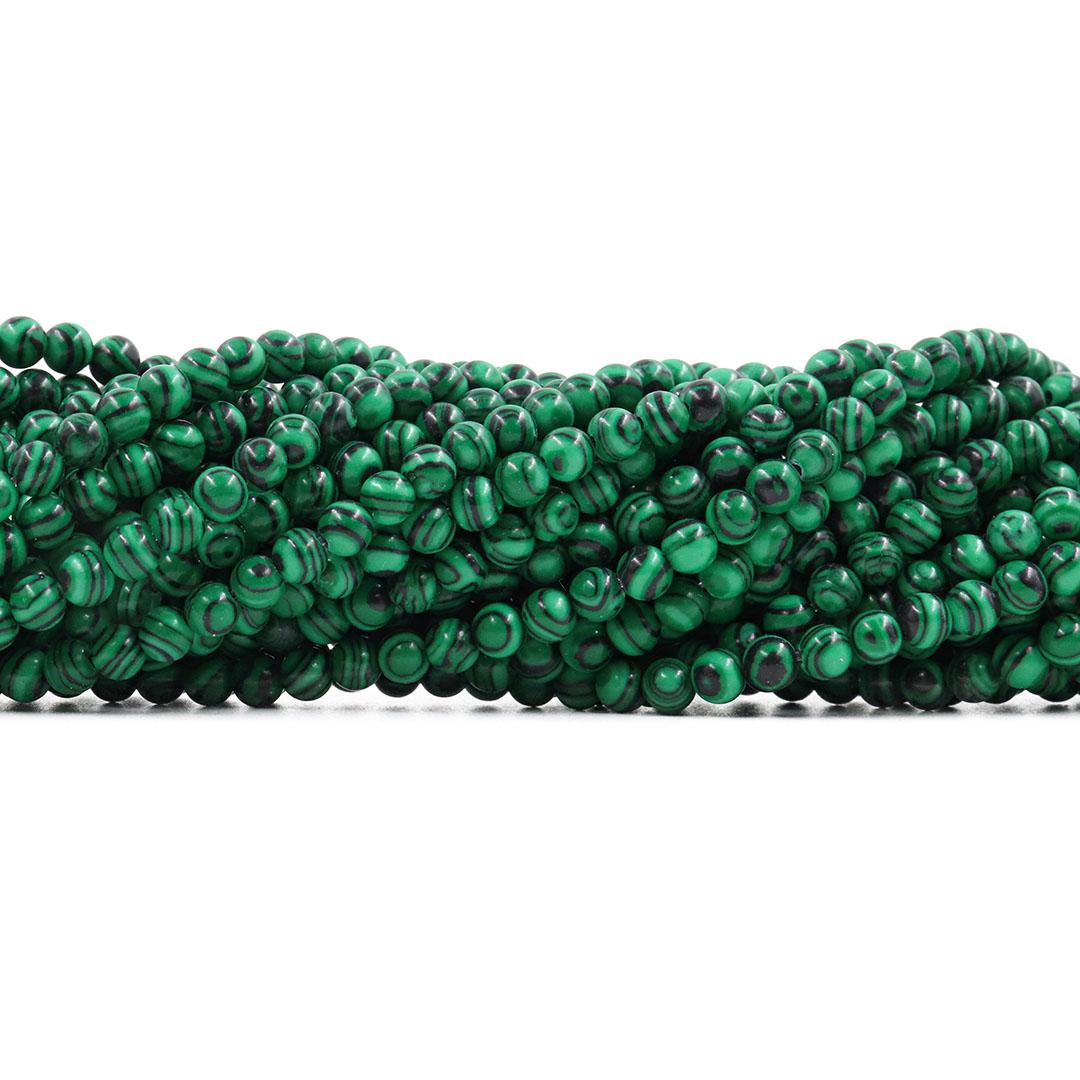Malaquita Fio com Esferas de 4mm - F155  - ArtStones